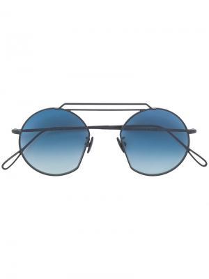 Солнцезащитные очки в круглой оправе Kyme. Цвет: чёрный