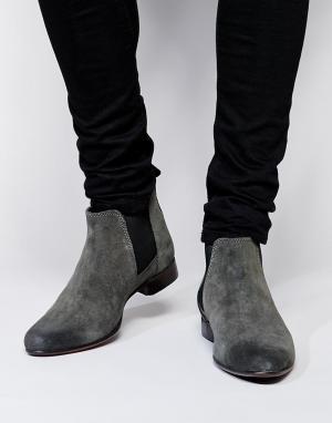 ASOS Замшевые ботинки Chelsea. Цвет: серый
