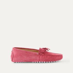 Мокасины кожаные BOBBIES. Цвет: розовый