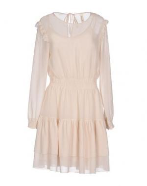 Короткое платье SOUVENIR. Цвет: слоновая кость