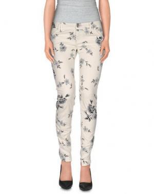 Повседневные брюки JCOLOR. Цвет: слоновая кость