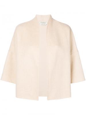 Пиджак с укороченными рукавами Max Mara. Цвет: телесный