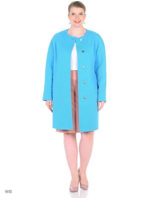 Пальто FORTUNA. Цвет: голубой