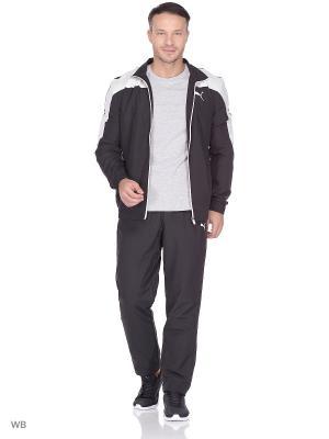 Костюм спортивный  Evostripe Woven Suit op PUMA. Цвет: черный