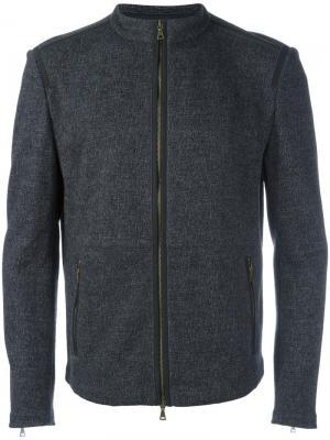Двухсторонняя куртка на молнии John Varvatos. Цвет: серый