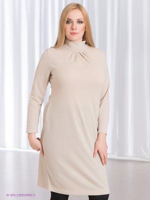 Платье Klimini. Цвет: бежевый