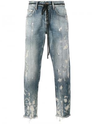 Укороченные джинсы Arrow Off-White. Цвет: синий
