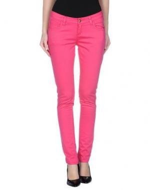 Повседневные брюки MONKEE GENES. Цвет: фуксия