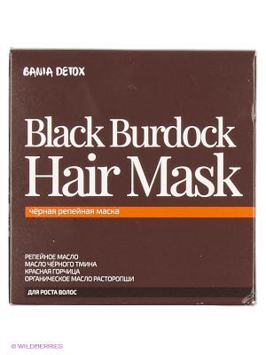 Маска д/волос черная репейная 400мл Natura Siberica. Цвет: коричневый
