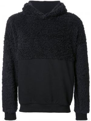 Textured panel hoodie Cottweiler. Цвет: чёрный