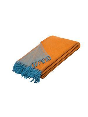 Плед РУНО. Цвет: бирюзовый, оранжевый