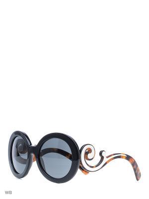 Очки солнцезащитные PRADA. Цвет: синий, коричневый