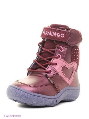 Полусапожки Flamingo. Цвет: фиолетовый