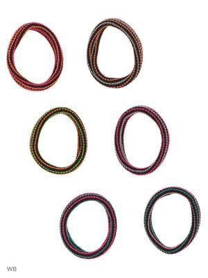 Резинка(6шт) Bizon. Цвет: оранжевый, черный, желтый