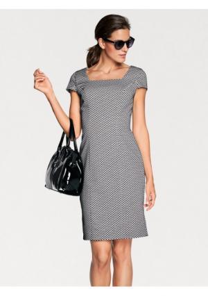 Платье-футляр PATRIZIA DINI. Цвет: экрю/черный