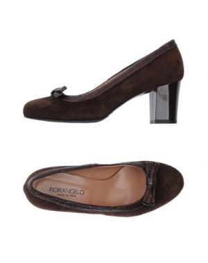 Туфли FIORANGELO. Цвет: темно-коричневый