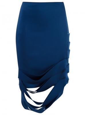 Асимметричная юбка Gloria Coelho. Цвет: синий