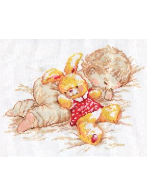 Набор для вышивания Дочурка  25х19 см. Алиса. Цвет: бежевый,красный,желтый