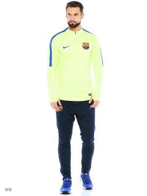 Джемпер FCB M DRIL TOP SQD Nike. Цвет: салатовый