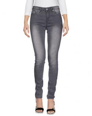 Джинсовые брюки SUBLEVEL. Цвет: свинцово-серый