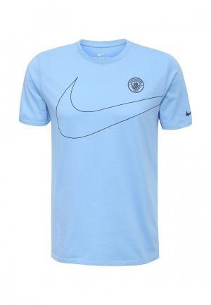 Футболка Nike. Цвет: голубой