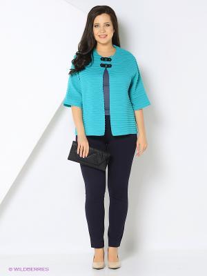 Жакет Milana Style. Цвет: бирюзовый, голубой
