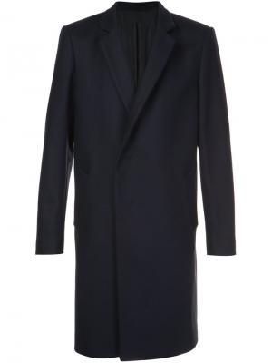 Двубортное пальто Wooyoungmi. Цвет: синий