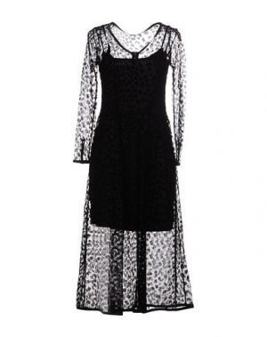 Платье длиной 3/4 DRESS GALLERY. Цвет: черный
