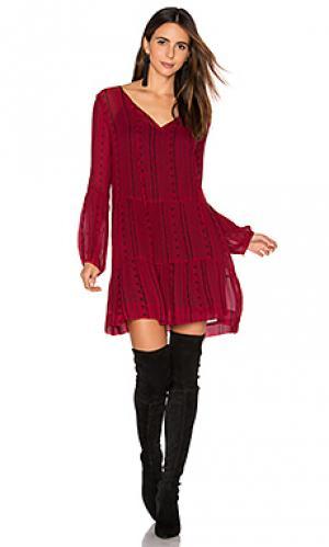 Платье lana Sanctuary. Цвет: красный
