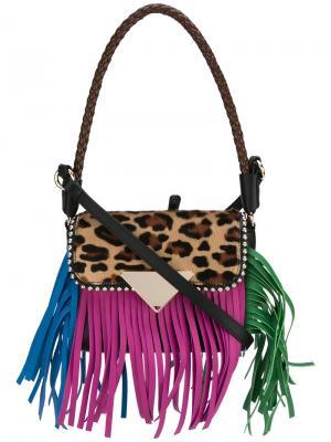 Amber fringed bag Sara Battaglia. Цвет: многоцветный