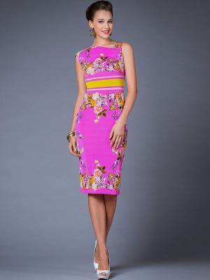 Платье Арт-Деко. Цвет: фуксия