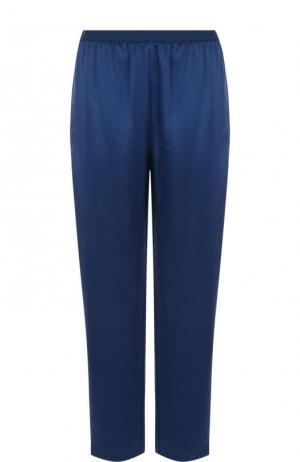 Укороченные однотонные брюки с эластичным поясом T by Alexander Wang. Цвет: синий