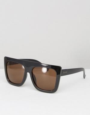 Quay Australia Солнцезащитные очки с плоским верхом Café Racer Shield. Цвет: коричневый