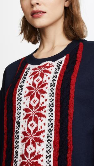 Stripe Snowflake Sweatshirt Michaela Buerger