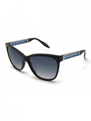 Солнцезащитные очки MILA ZB. Цвет: синий, серебристый