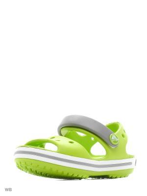 Сандалии CROCS. Цвет: светло-зеленый, серый