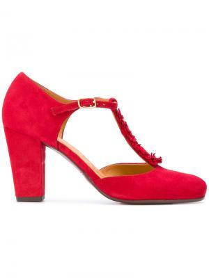 Туфли с Т-образной планкой Chie Mihara. Цвет: красный