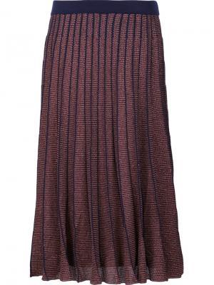 Metallic knit Josie skirt Tanya Taylor. Цвет: красный