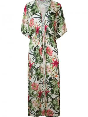 Floral print beach dress Amir Slama. Цвет: зелёный