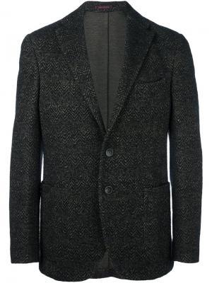 Пиджак с узором зигзаг The Gigi. Цвет: чёрный