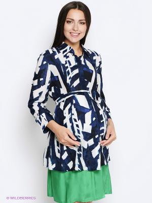 Блузка One plus. Цвет: темно-синий