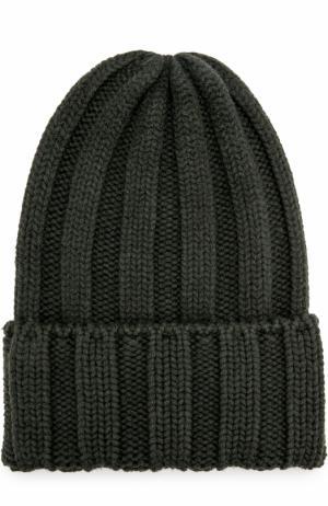Шерстяная шапка Tak.Ori. Цвет: хаки