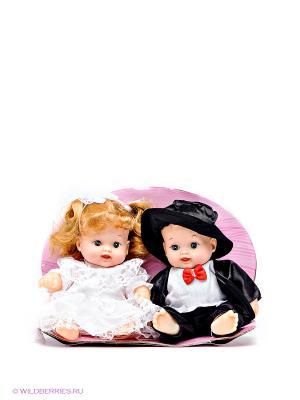 Набор из 2-х кукол Карапуз Жених и невеста. Цвет: черный, белый