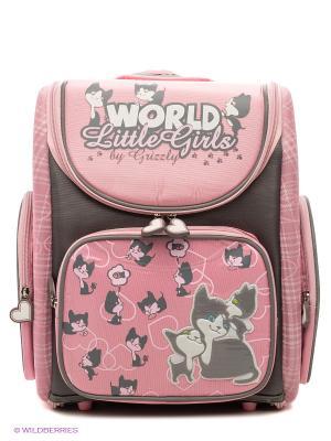 Рюкзак Grizzly. Цвет: розовый