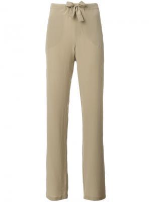 Tie waist trousers Tomas Maier. Цвет: телесный