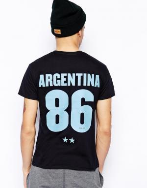 Футболка  Argentina 86 Born Idol. Цвет: черный