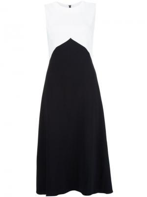 Приталенное платье колор-блок Narciso Rodriguez. Цвет: чёрный