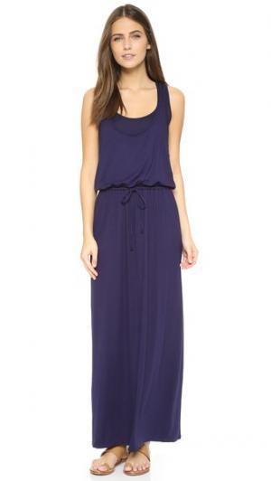 Макси-платье без рукавов с завязками Three Dots. Цвет: голубой
