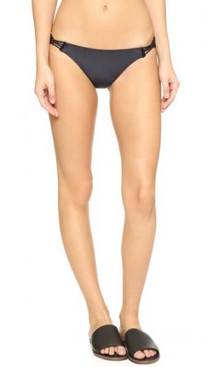 Плавки бикини Full с заплетенной колосом отделкой ViX Swimwear. Цвет: голубой