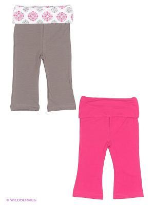 Комплект Штанишки Yoga Sprout. Цвет: розовый, серый